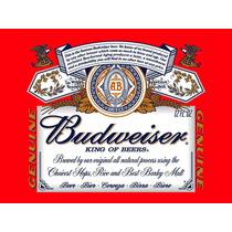Placa Decorativa Cerveja Budweiser - 30x22m - Frete Grátis