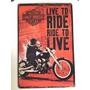 Placa Decorativa Vintage Harley Davidson Rota 66 - Pl08