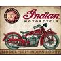 Indian Moto Placas Decorativas Retrô Vintage -- Frete Gratis