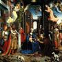 Adoração Rei Jesus Cristo Virgem Maria Pintor David Tela Rep