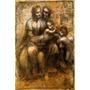Virgem Maria Jesus São João Batista Pintor Da Vinci Tela Rep