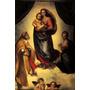 Virgem Maria Jesus Cristo Anjos Pintor Raphael Tela Repro