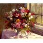 Lindas Flores De Outono Janela Mesa Pintor Parsons Tela Repr