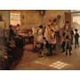 Escola Crianças Fim De Aula Pintor Armstrong Na Tela Repro