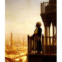 Egito Homem Árabe Rezando Varanda Pintor Gérôme Tela Repro