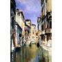 Turismo Canal Veneza Itália Pintor Robert Blum Tela Repro