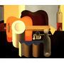 Natureza Morta Violão Música Pintor Corbusier Na Tela Repro