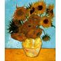 Vaso Arranjo Flores Girassóis Van Gogh Grande Tela Repro