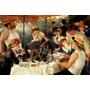Almoço No Barco Cachorro Pintura De Renoir Grande Na Tela