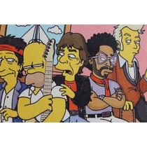 Quadro Simpsons Impressão Em Canvas 40x30