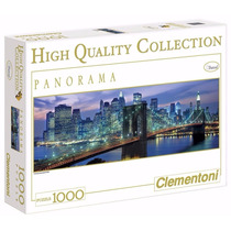 Quebra Cabeça Puzzle 1000 Peças Panorama Brooklyn New York