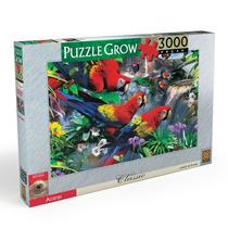 Quebra Cabeça Puzzle Da Grow 3000 Peças Araras Série Classic
