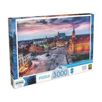 Novo Quebra-cabeça Puzzle Grow 3000 Peças Noite Em Varsóvia
