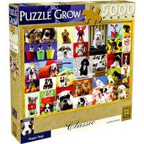 Quebra Cabeça Puzzle 5000 Peças Grow Happy Dogs