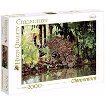 Quebra Cabeça Puzzle Clementoni 2000 Peças Paisagem Leopardo