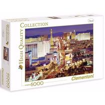 Quebra Cabeça Puzzle Clementoni 6000 Peças Paisage Las Vegas