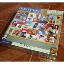 Puzzle Grow Quebra Cabeça 5000 Peças Happy Dogs
