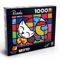Quebra-cabeça Romero Britto Cat 1.000 Peças - Grow