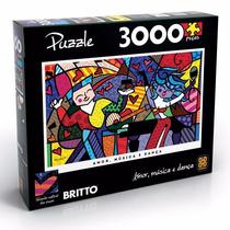 Quebra-cabeça Romero Britto Amor Música E Dança - 3000 Peças