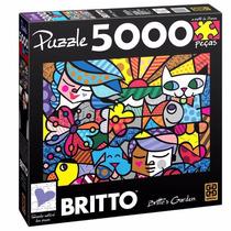 Puzzle Quebra Cabeça Romero Britto Brittos Garden 5000 Peças