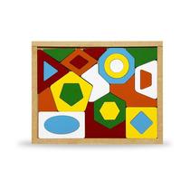 Jogo Quebra-cabeça Geométrico 24 Peças Mdf Carlu 1630 + Nf