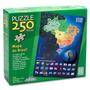 Novo Quebra-cabeça Puzzle Grow 250 Peças Mapa Do Brasil