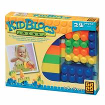 Jogo Montar Lego Kid Blocs - Cartucho 24 Peças - Grow