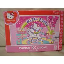 Jogo Quebra-cabeça 100 Pç Hello Kitty Grow Unicornio Sanrio