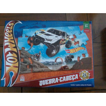 Puzzle Hot Wheels Off Road 24 Peças Pick Up