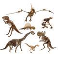 Coleção 7 Dinossauros Quebra Cabeça 3d Mdf Cortado A Laser