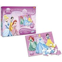 Jogo Quebra Cabeça Princesas Disney Menina 30 Peças Xalingo