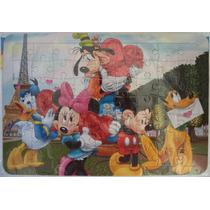 Quebra Cabeça Infantil Turma Do Mickey Em Paris 64 Pçs