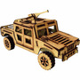 Jeep Hummer Carro De Exercito Quebra Cabeça 3d Puzzle Mdf