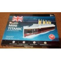 Maquete Navio Quebra Cabeça Mini Titanic 3d 30 P Cubic Fun