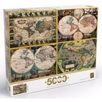 Quebra Cabeça 5000 Peças - Grow - Mapas Históricos