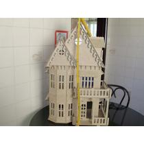 Casa Casinha De Boneca Poly, Barbie Cortado A Laser Infantil