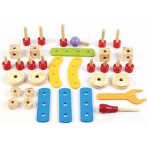Ferramentas Carrinho Brinquedo Educativo Pedagogico Madeira