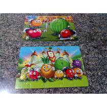Jogo De 2 Quebra Cabeças Infantil De Frutas