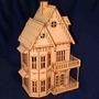 Casinha Casa De Boneca Em Mdf - Polly - Grátis 25 Móveis