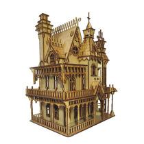Quebra Cabeça 3d De Mdf - Kit Casa De Bonecas 1 Ref. 1008