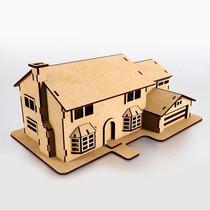Casa Do Simpsons - Em Mdf - Quebra-cabeça 3d Puzzle