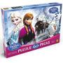 Quebra-cabeça Frozen 60 Peças Disney Original - Grow