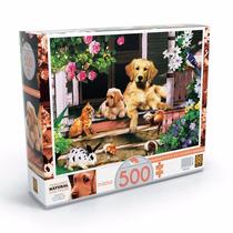 Brinquedo Quebra Cabeça Puzzle 500 Peças Bichos Na Varanda