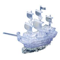 3d Puzzle - Navio De Pirata De Cristal De Bloqueio 3 Dimensi