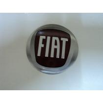 Emblema Fiat Vermelho 65mm Para Rodas Esportivas