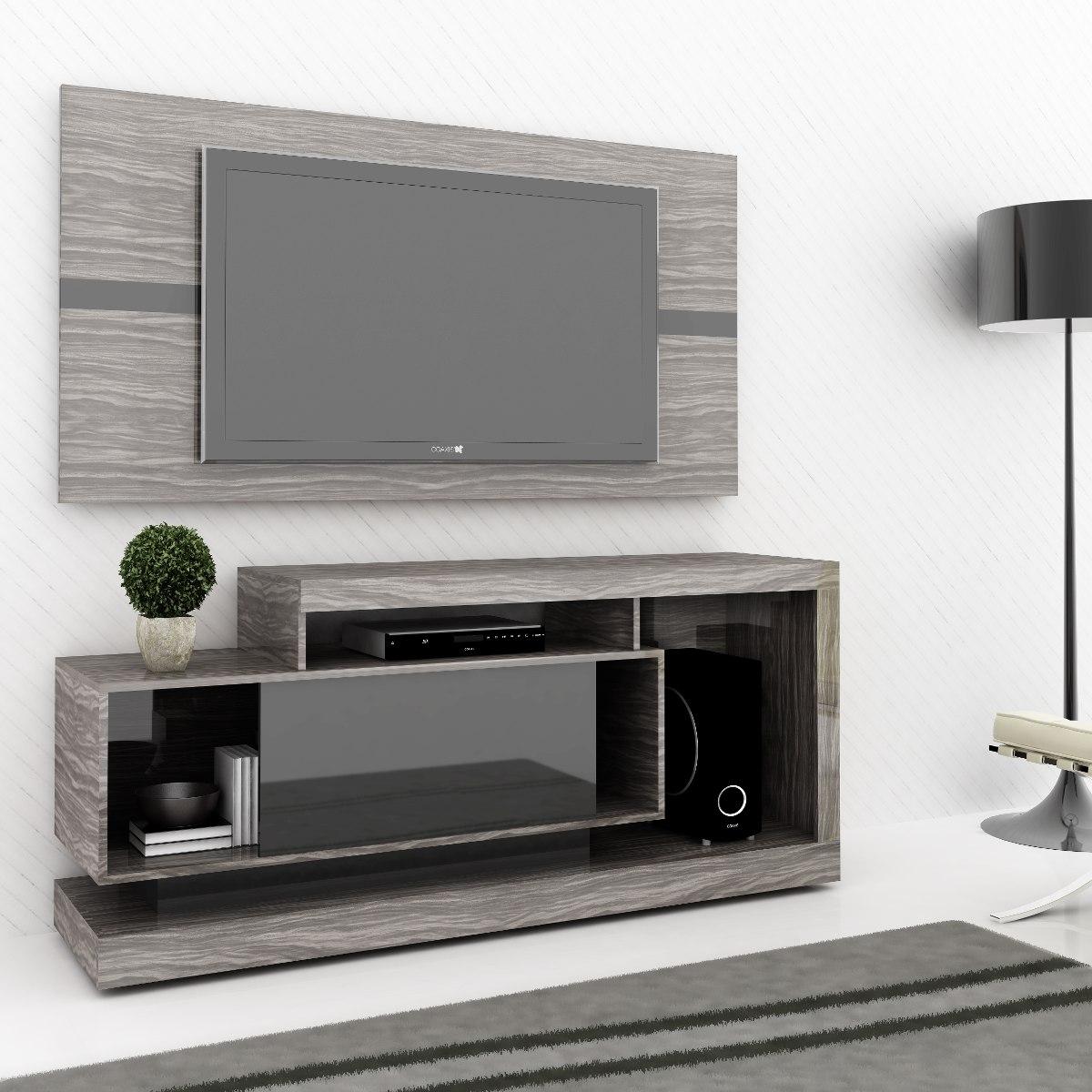 Rack Bancada Domani Com Painel E Rodizio P Tv Lcd Led 3d Living  #505B3D 1200x1200