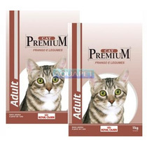 Ração Gato Cat Premium Adult Frando Legumes 1kg Royal Canin