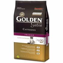 Ração Para Gatos Castrados Adultos Golden 10kg - Frango.