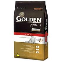 Ração Golden Gatos Adulto Carne 10.1kg