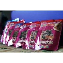 Sache Para Gatos Whiskas Filhotes Sabor Frango Caixa Com 12